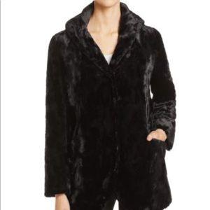 Karen Kane faux fur hooded coat Fall in the City